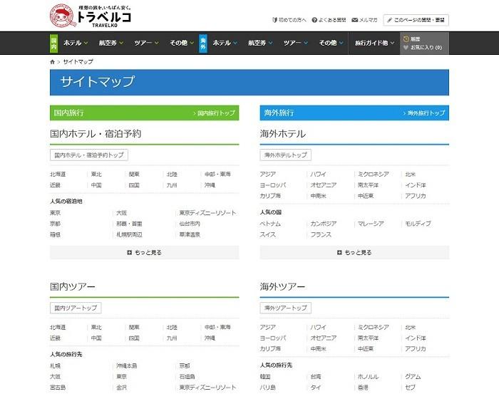 HTMLサイトマップ_事例