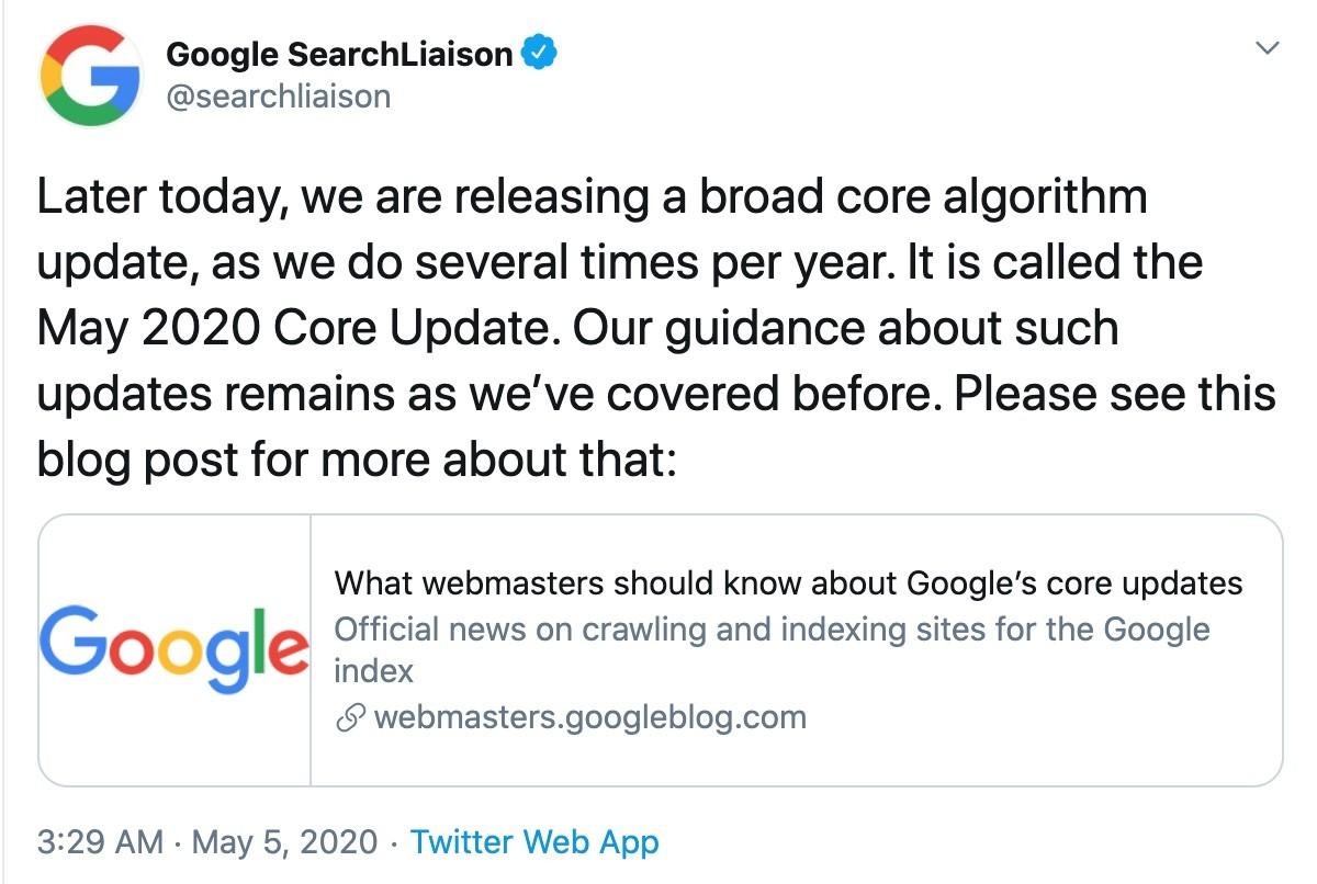 Googleは毎年のようにアップデートを行う