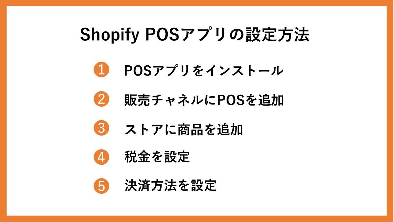 Shopify POSアプリの設定方法5ステップ