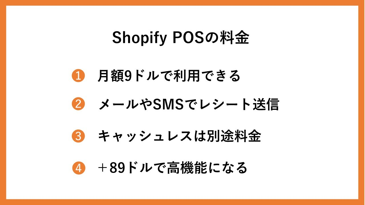 Shopify POSの料金