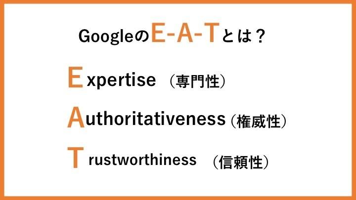 GoogleのE-A-Tとは?