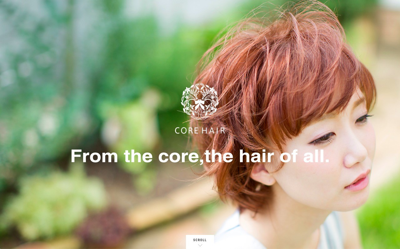新潟県にある美容室「CORE HAIR」