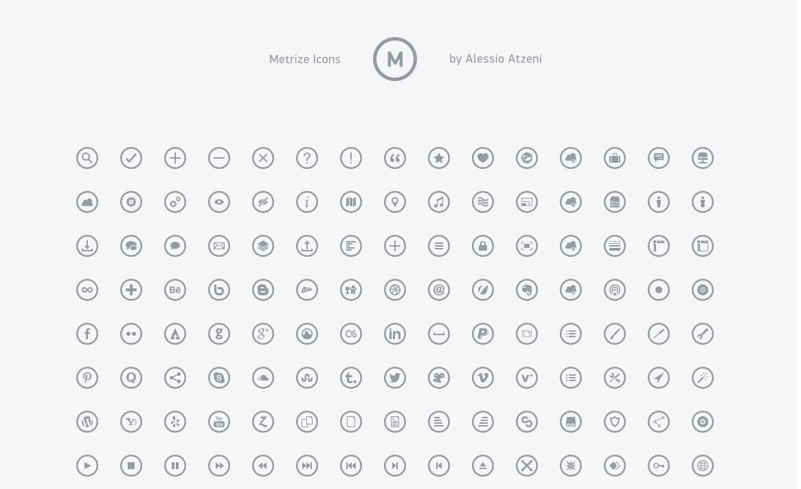 ホームページ アイコン Metrize Icons