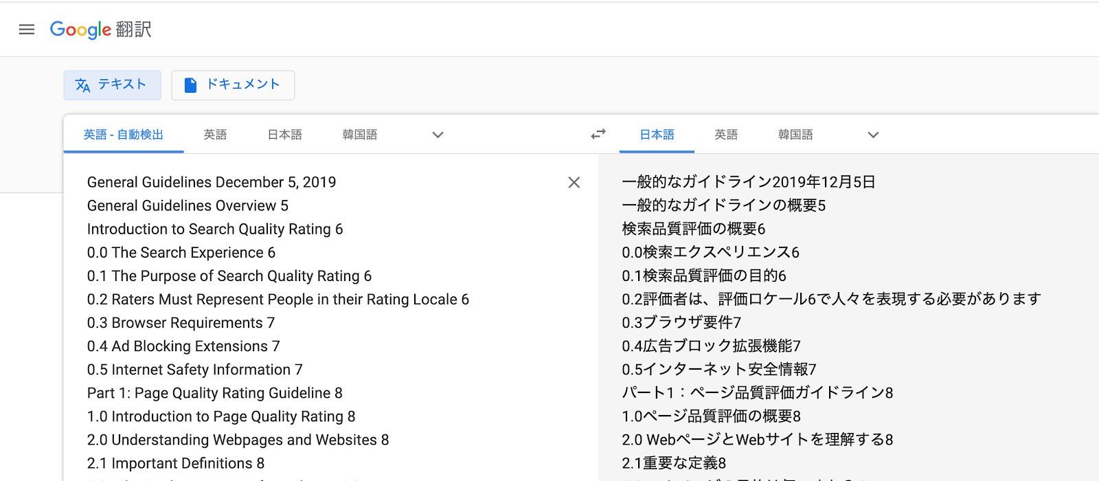 Google検索品質評価ガイドライン