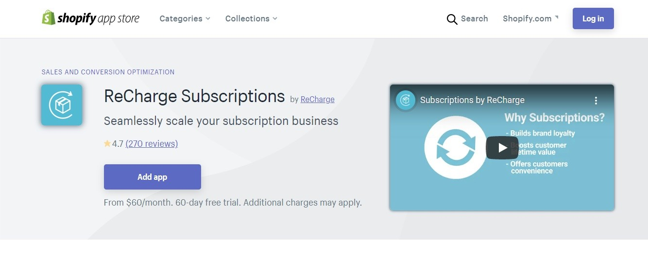 Subscriptions by ReCharge