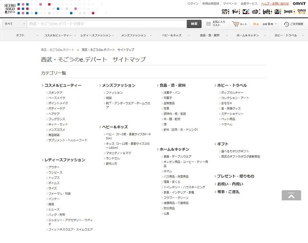 HTMLサイトマップ_事例_西武・そごうのe.デパート