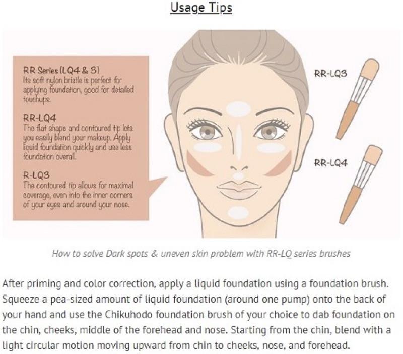 化粧方法のコンテンツページ